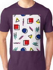 Memphis Style Pattern Design Unisex T-Shirt