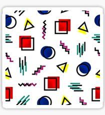 Memphis Style Pattern Design Sticker