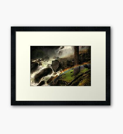 Mist Trail Framed Print