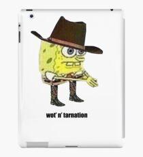 What in tarnation spongebob meme iPad Case/Skin