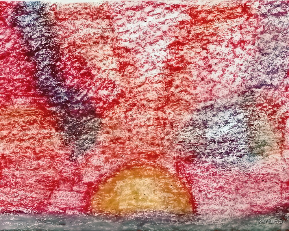 Sunset Unpainted Pastel by karen66
