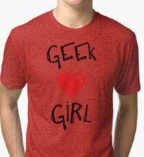 Geek Girl Tri-blend T-Shirt