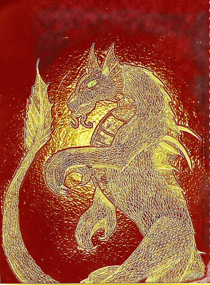 Dragon drawn etched by Aurora
