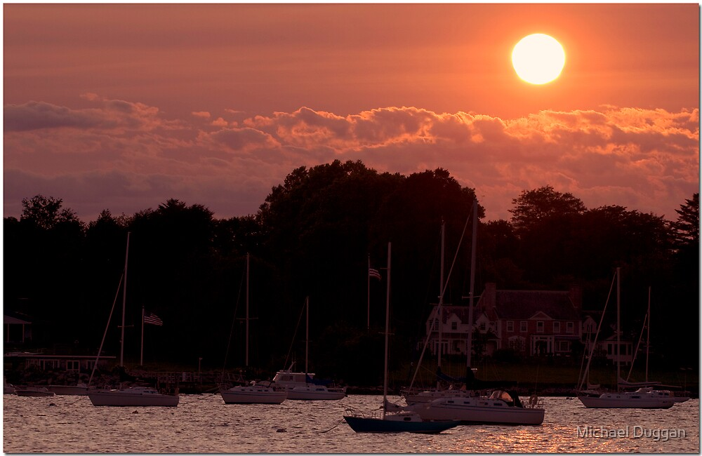 Sunset in Newport Rhode Island by Michael Duggan