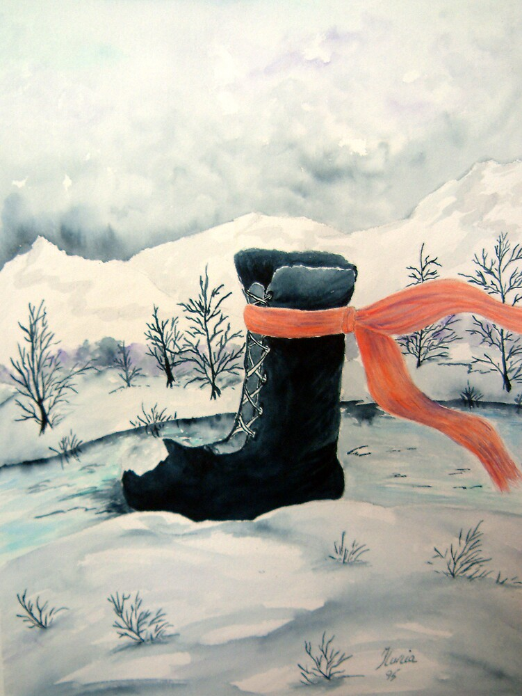 Happy Snow Boot  by Ilunia Felczer