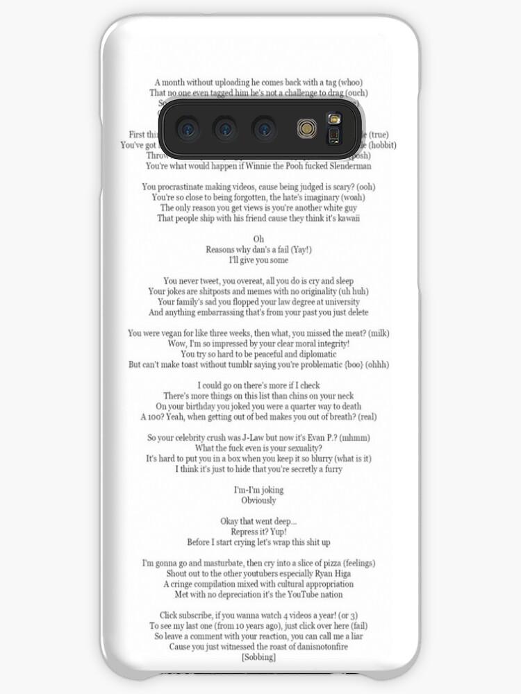 'Dans Diss Track' Case/Skin for Samsung Galaxy by AmazingCas