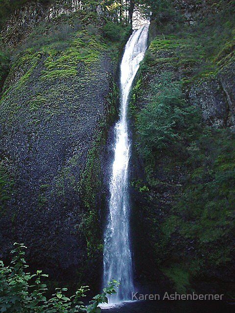 Horsetail Falls - Oregon by Karen Ashenberner