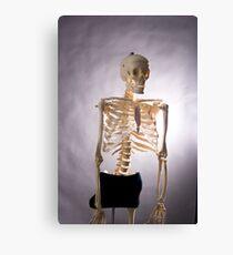 Skeleton Series: Semi Nude Canvas Print