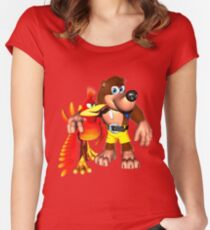 Banjo and Kazooie - Best Pals Women's Fitted Scoop T-Shirt