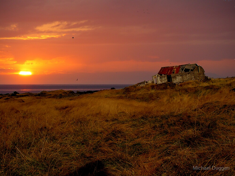 Old House at Sunset by Michael Duggan