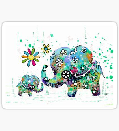blooming elephants Sticker