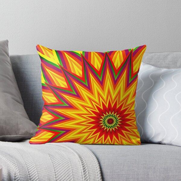 Fractal Sunflower II Throw Pillow