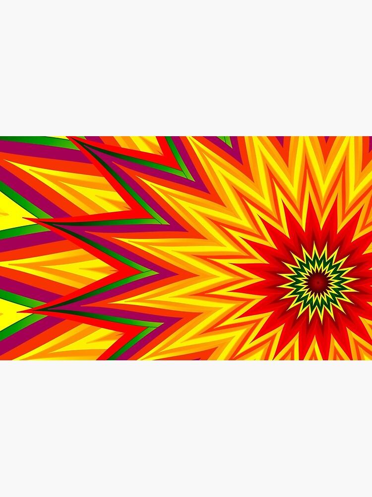 Fractal Sunflower II by cynthiamanor
