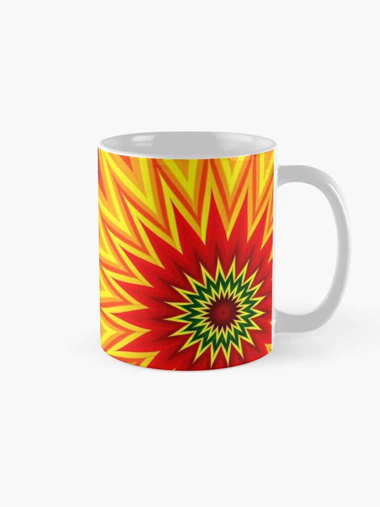 Alternate view of Fractal Sunflower II Mug