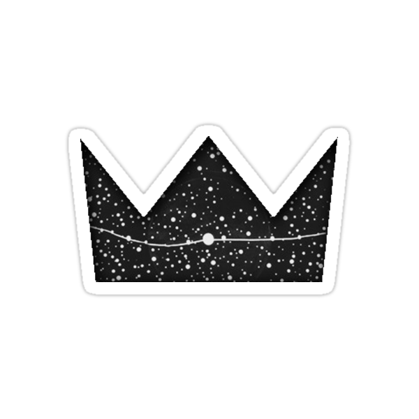 Quot Louis The Child B Amp W Crown Logo Quot Stickers By Lilybasile