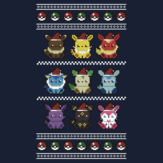 c343addd An Eeveelutionary Christmas | Sweatshirt, a t-shirt of pokemon ...