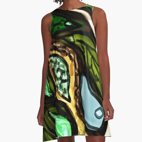 Leaf pattern 1 A-Line Dress