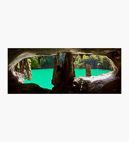 Oyster Cave in Koh Panak Photographic Print