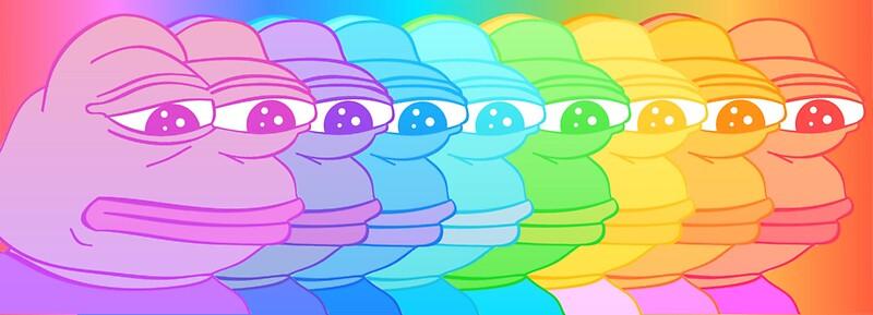 Quot Pepe Rainbow Quot Stickers By Kek Snek Redbubble