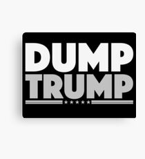 DUMP TRUMP Negative Canvas Print