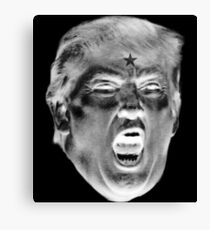 ANGRY TRUMP Negative Canvas Print