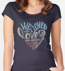 More than Love Women's Fitted Scoop T-Shirt
