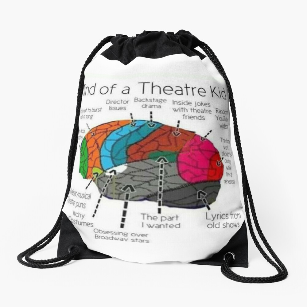 Mind Of a Theater Kid Drawstring Bag