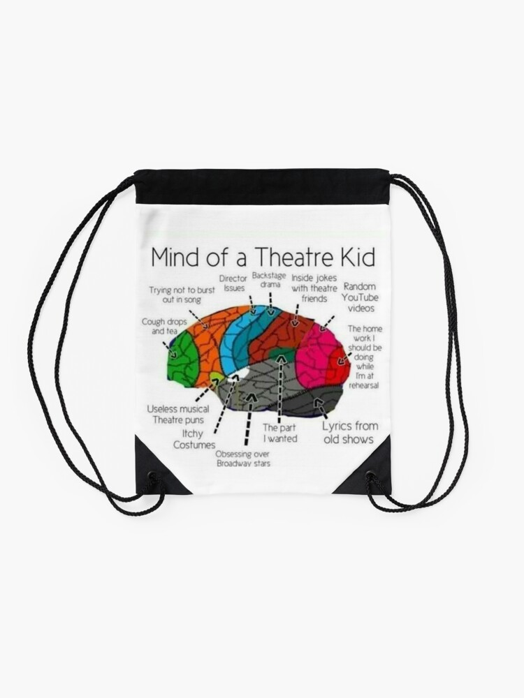 Alternate view of Mind Of a Theater Kid Drawstring Bag