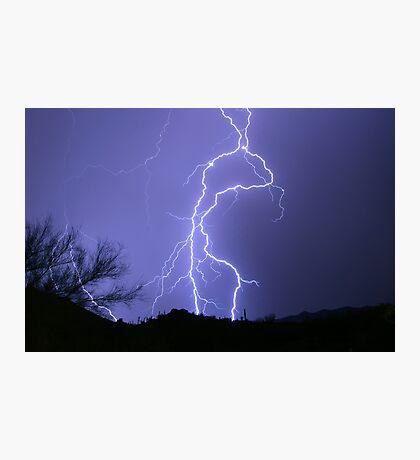 Desert Lightning Photographic Print
