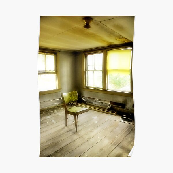 Room with Chair - Diffused, Confused, Disused Poster