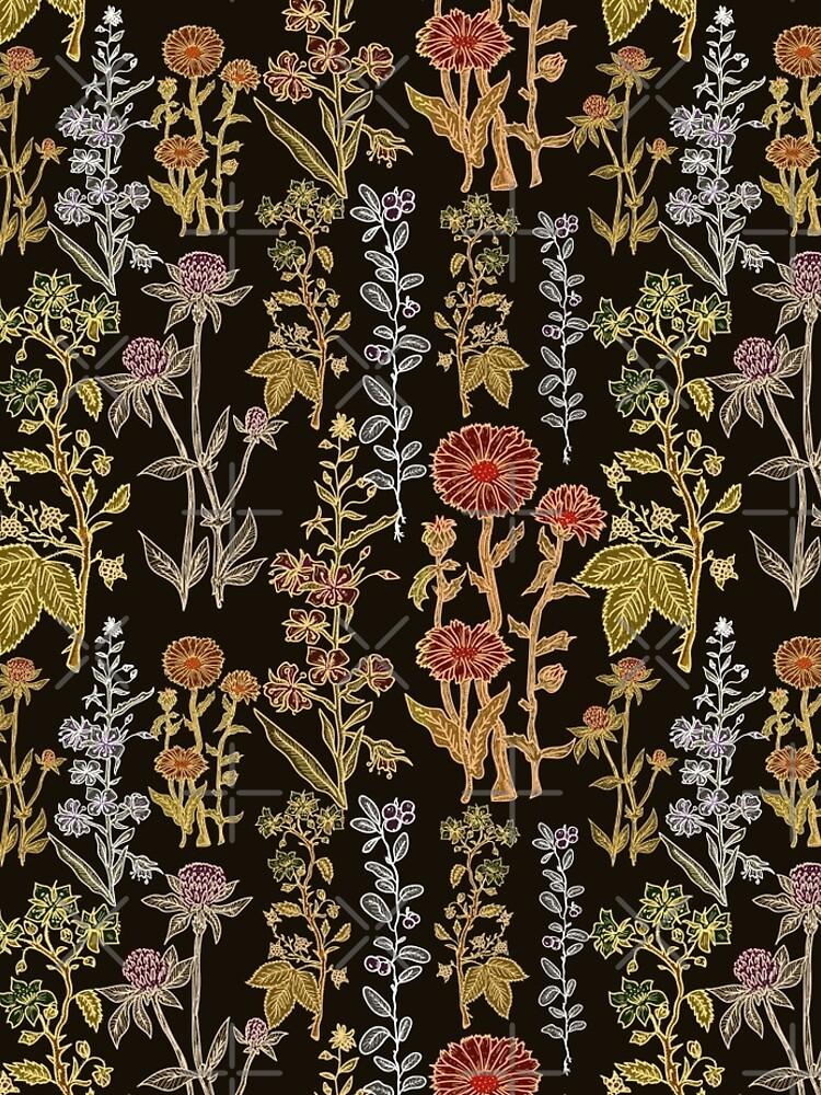 Plants on black by intueri