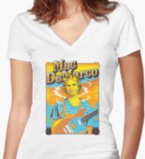 mac demarco Women's Fitted V-Neck T-Shirt