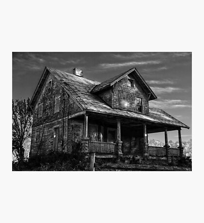 Abandoned in Black & White Photographic Print