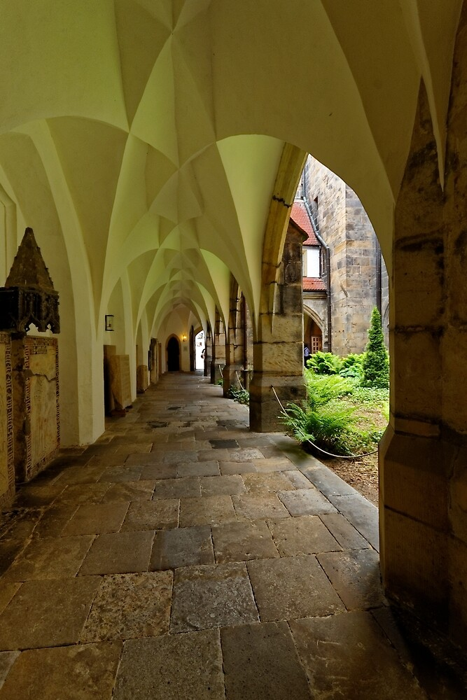 In the Cloister, the Cathedral, Meissen, Saxony, Germany by Priscilla Turner