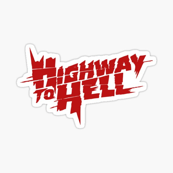 Highway To Hell Thunderstruck Pegatina