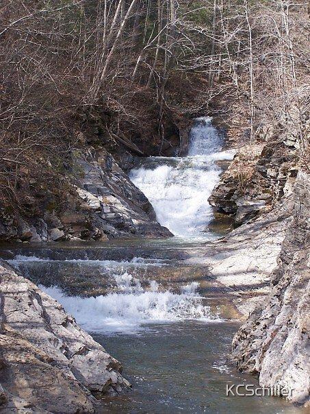 Waterfall in Winter by KCSchiller
