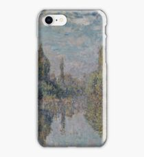 Claude Monet - La Seine A Vetheuil 1878 iPhone Case/Skin