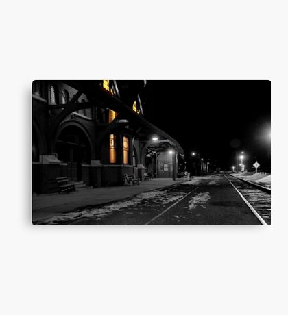 Mauch Chunk Station Ala Polar Express Canvas Print