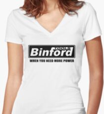 When You Need More Power Binford Tools Women's Fitted V-Neck T-Shirt