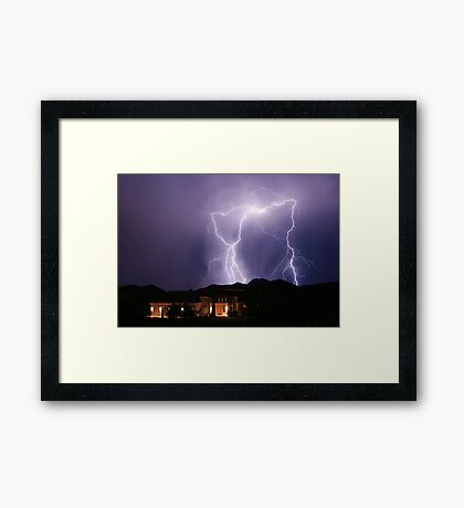 Behind The Neighbors Framed Print