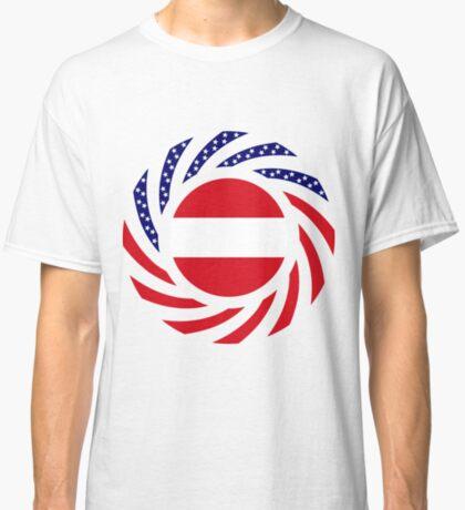 Austrian American Multinational Patriot Flag Series Classic T-Shirt