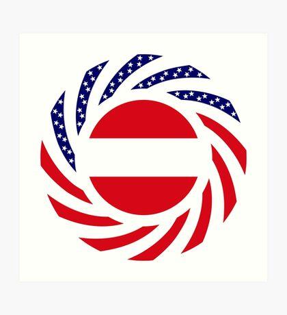 Austrian American Multinational Patriot Flag Series Art Print
