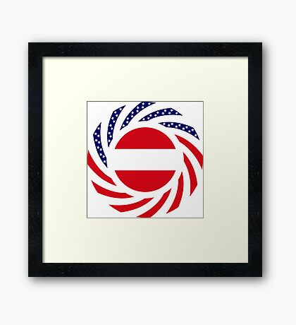Austrian American Multinational Patriot Flag Series Framed Print