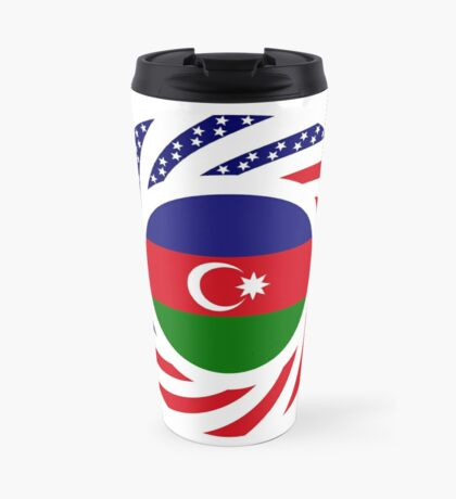 Azerbaijani American Multinational Patriot Flag Series Travel Mug