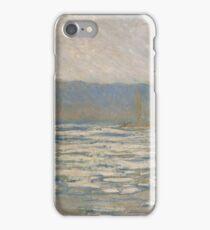 Claude Monet - Ice Breaking Up On The Seine Near Bennecourt 1893 iPhone Case/Skin