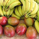 Farmers market fruits by Farrah Garland