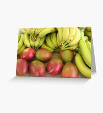 Farmers market fruits Greeting Card
