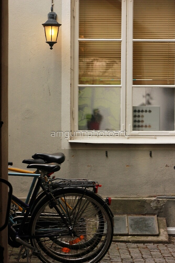 Bicycle Courtyard, Kalmar, Sweden by amgunnphotoart