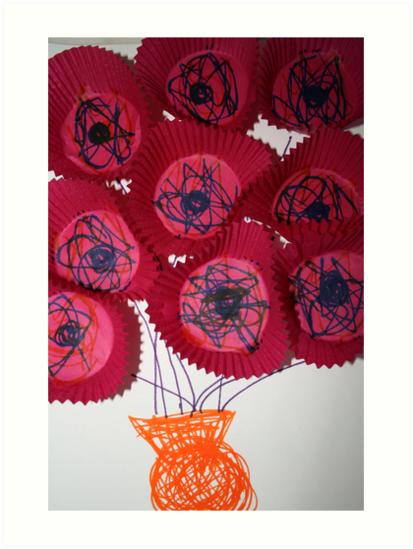 'Flowers' by Lachlan (age almost three) by SusanC