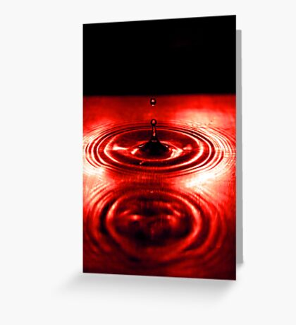 Red Drops Greeting Card